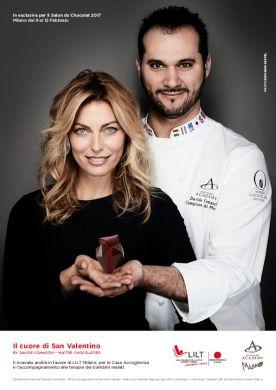 LILT e Davide Comaschi presentano il Cuore di San Valentino 2017