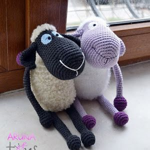 Amigurumi Purple Sheep Construction-Amigurumi Schafe Gratisanleitung | Winziges Mini-Design