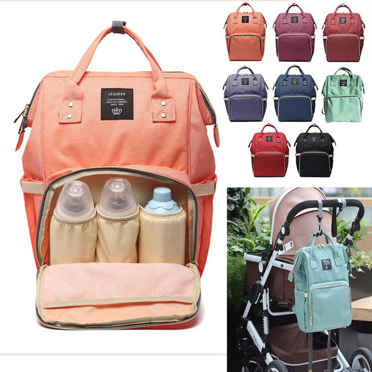Fashion Baby Stroller Bag Mummy Large Capacity Travel Backpack Nursing Hangings Bag Strollers Accessories