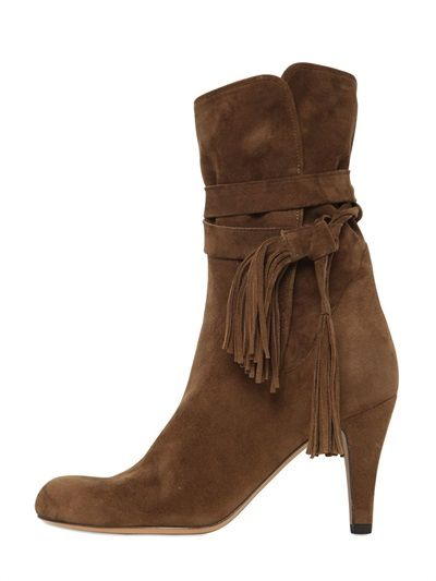 CHLOE FRINGED SUEDE BOOTS