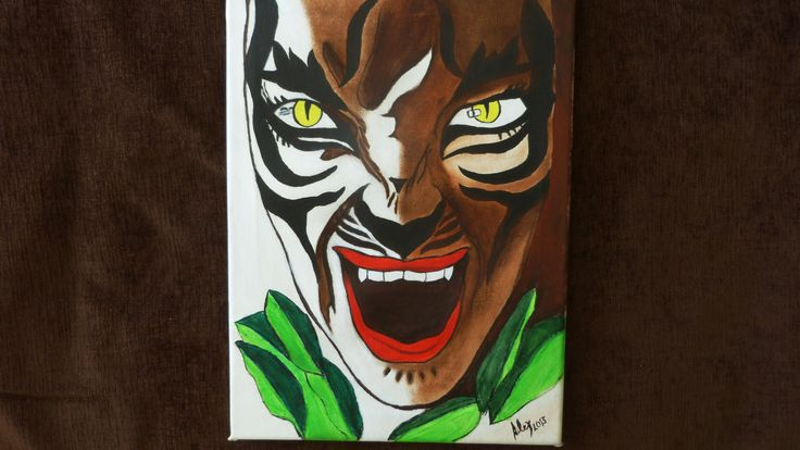 Tigrewoman pintado por Alex sobre lienzo en óleo y acrílico
