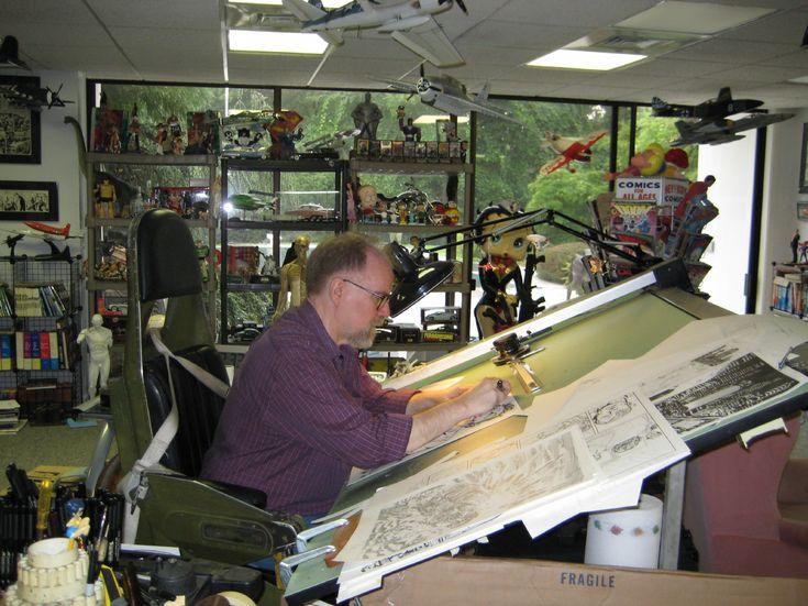 John Byrne at his Studio Desk Comic Art | Comic Book ...