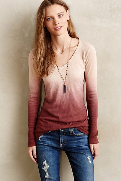 Long-Form Tee - anthropologie.com. 48 (several other solid colors)
