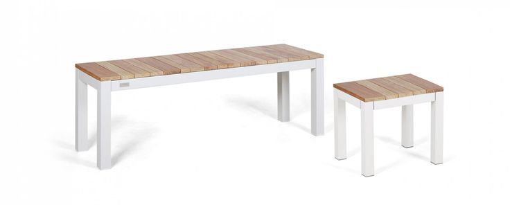 The Tandem Backless Bench is designed to complement the Tandem Table. Available in 4 different lengths, each designed to fit under a specific table, with a 1 seater stool which fits under any of the table ends. Made from white powder coated aluminium and A-grade teak, the Tandem Alu Backless Bench comes with a 3 year warranty.