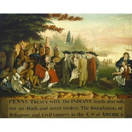 PennS Treaty With The Indians Canvas Art - (24 x 18)