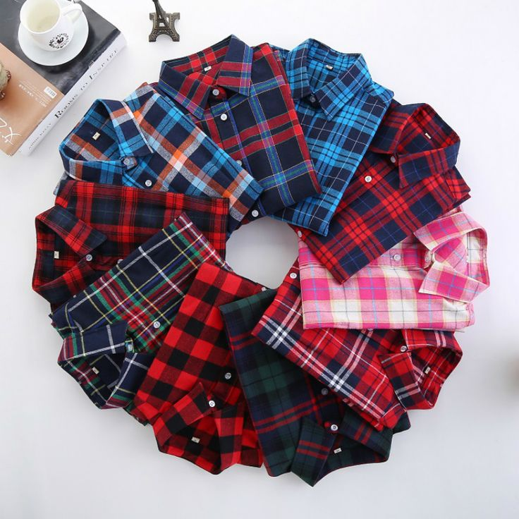 New Fashion Plaid Shirt Female College Style Women's Blouses Long Sleeve Flannel Shirt Plus Size Cotton Blusas Office Tops 2017 -- This is an AliExpress affiliate pin.  Item can be found on AliExpress website by clicking the VISIT button