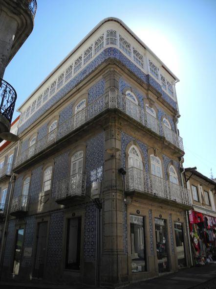 Portuguese Tile Building Valenca, Portugal