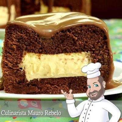 Bolo de Chocolate com Mousse de Maracujá - Mauro Rebelo