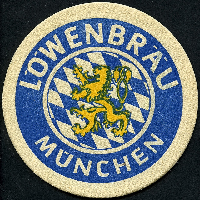 ephemera - Lowenbrau beer mat 2, via Flickr.