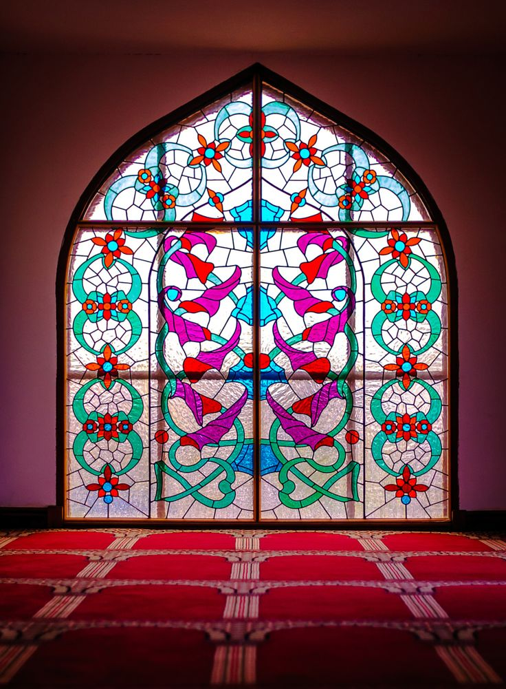 Stained Glass at Masjid Tabligh ul-Islam, Bradford by Mas'ud Khan / 500px