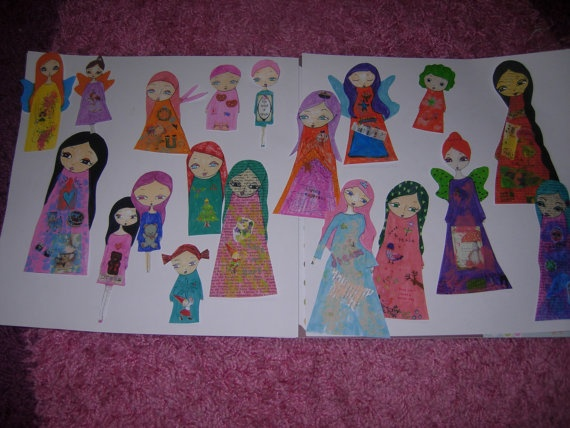 The Angels/Fairies Paper Dolls   Unique sellection of by eltsamp, $53.00