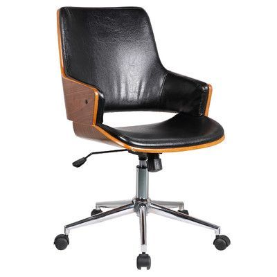 Found it at Wayfair - Solene High-Back Leather Office Chair with Arms