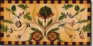 Hand painted floor cloth... must learn how to do this