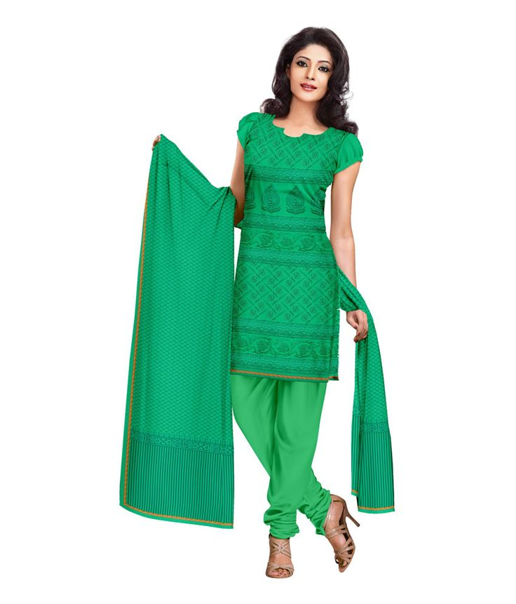 Ethnic Dukaan Green Embroidered Chanderi Salwar Suit Dress Material, http://www.snapdeal.com/product/ethnic-dukaan-green-embroidered-chanderi/1888187911