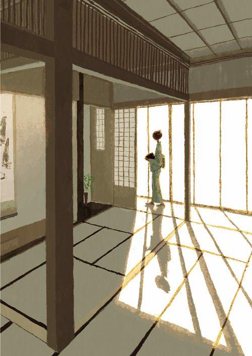 Japanese Illustration: Washitsu. Tadahiro Uesugi. 2003 - Gurafiku: Japanese Graphic Design