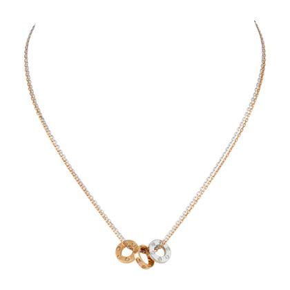 Collar LOVE - Oro blanco, oro rosa, diamantes - Fine collares para mujer - Cartier