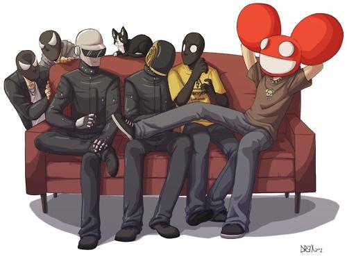 This is rad....The Bloody Beetroots + Daft Punk + Peligro + Deadmau5