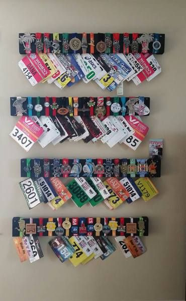 Over the past 4 years, D and I have run many races.  We enjoy it and love that we do it as a team.  Well 2 times the races and 2 times the race medals start to add up.  We needed  a display for the…