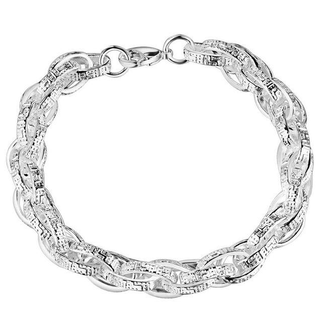 Высокое качество посеребренные браслет-цепочка ювелирные изделия персонализированные мужчины прохладный street style Factory Outlet AB041