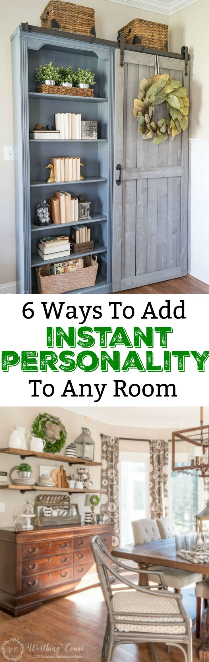 How to decorate a room with personality, easy diy projects, farmhouse