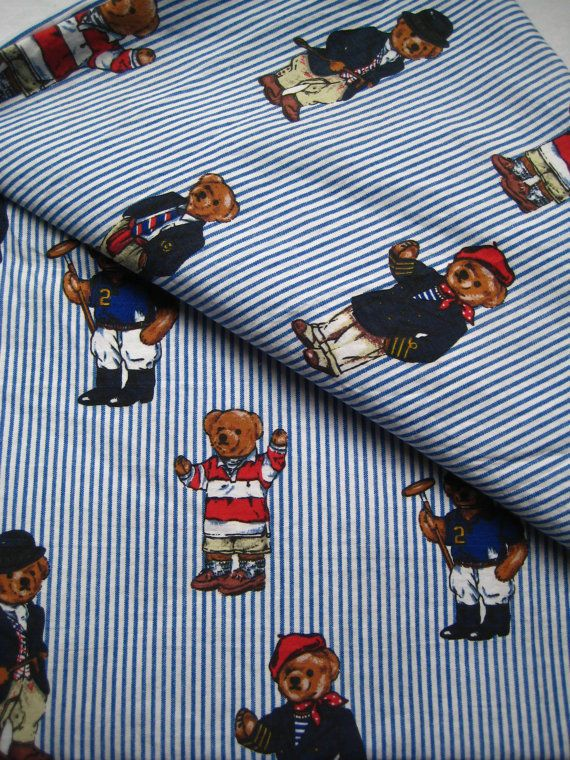 Attirant Polo Bear Ralph Lauren Twin Size Flat Sheet