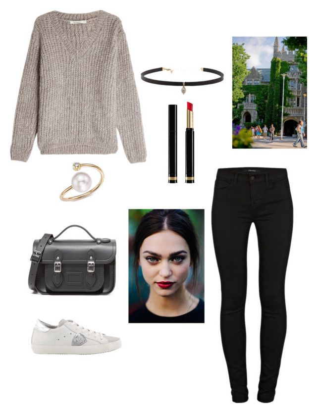 """""""campus"""" by laura-si on Polyvore featuring mode, Mes Demoiselles..., J Brand, Philippe Model, The Cambridge Satchel Company, Gucci, Carbon & Hyde, Zoë Chicco, outfit et fashionset"""