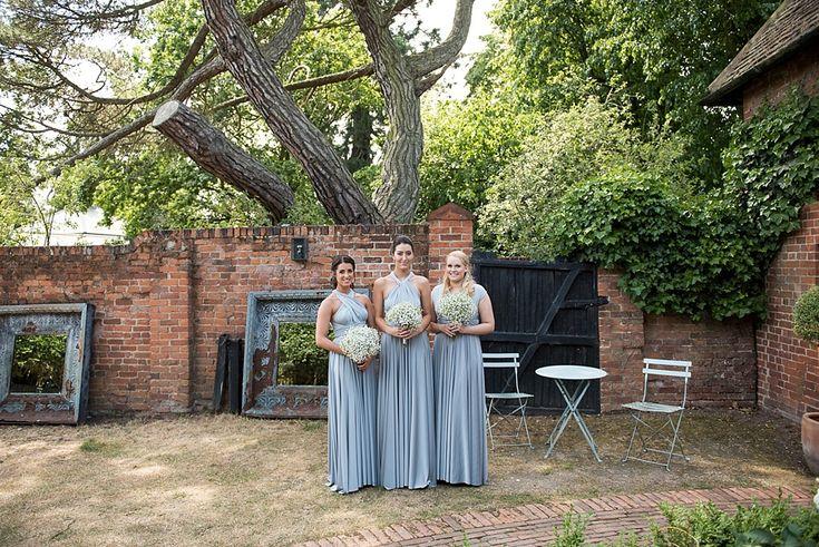 Trio of bridesmaids at Gaynes Park