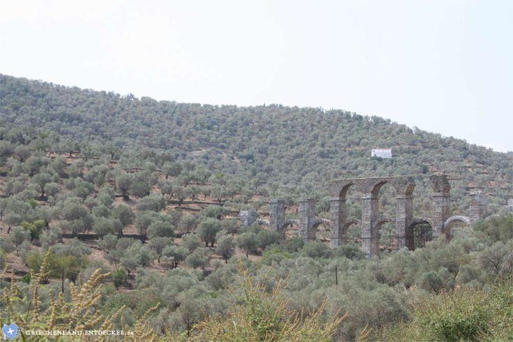 Teile des römischen Aquädukts bei Moria auf der Insel Lesbos