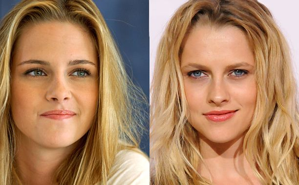 12 Celebrity Lookalikes: Ever Get These Pairs Mixed Up? | Kristen Stewart and Teresa Palmer | EW.com