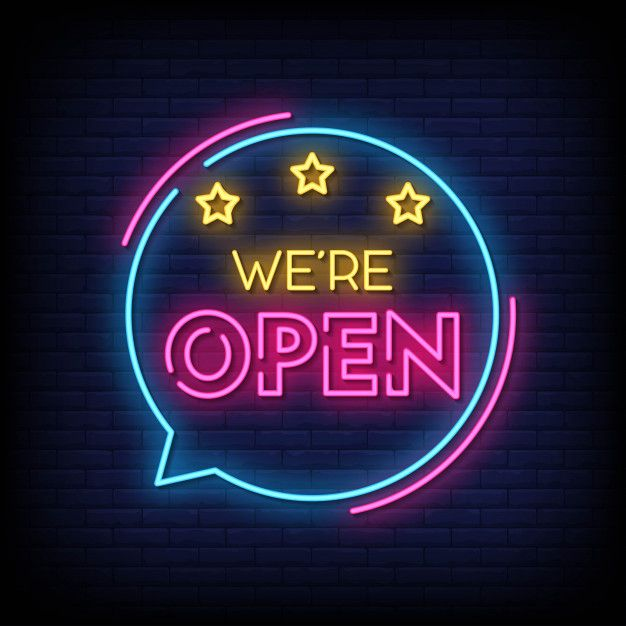 We Are Open Neon Signs Style Text Vector Neon Signs Neon Neon Wallpaper