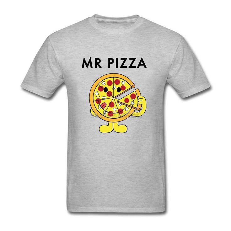 Mr Pizza Short Sleeve T-Shirt Crew Neck Boys Cool Shirt Designs Lowest Price Boys Custom Work Tees #Affiliate