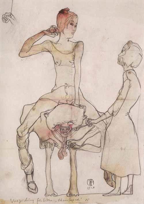 Ochsenfrosch Bleistift und Tusche 1987 Horst Janssen