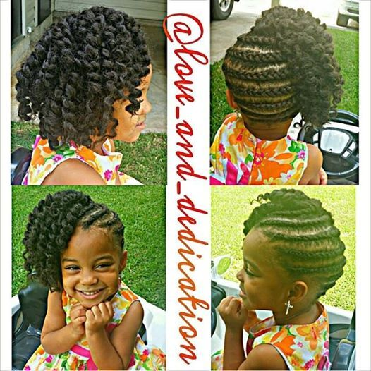 Love love love this hairstyle! Even little ones are rocking out some groovy styles ....