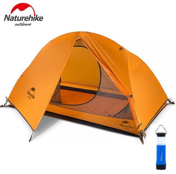 79.00$  Buy now - http://ali4dg.shopchina.info/1/go.php?t=32790194878 - Naturehike 4 Season Ultralight 1 Person Double Layers Aluminum Rod Hiking Tent 20D Silicone Fabric With Camping Mat 79.00$ #buymethat