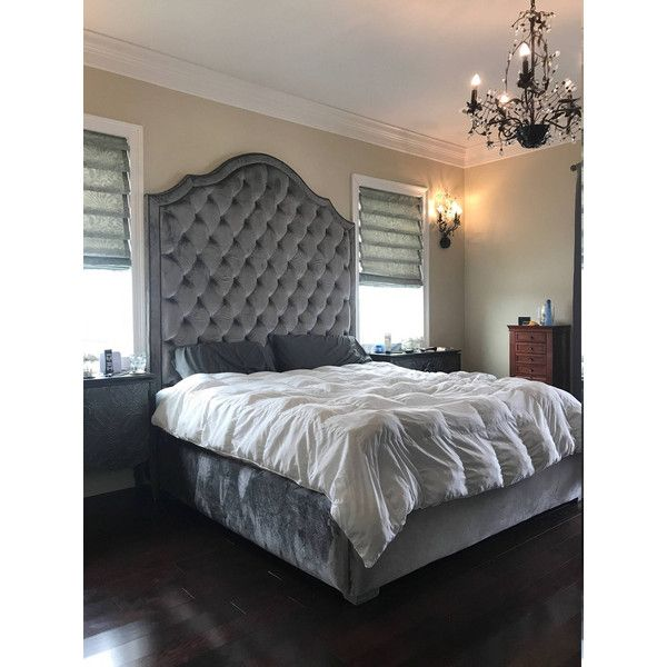 Tall Tufted Bed King Queen Full Twin Extra Tall California King 2 Liked On Poly King Upholstered Bed California King Size Bed California King Headboard
