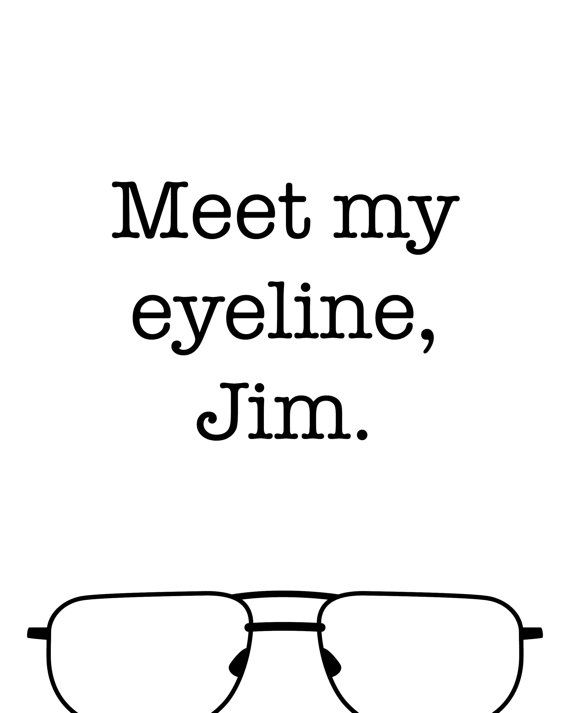 Meet My Eyeline Jim The Office Tv Printable Art Poster Funny Etsy Office Quotes The Office Show Office Tv