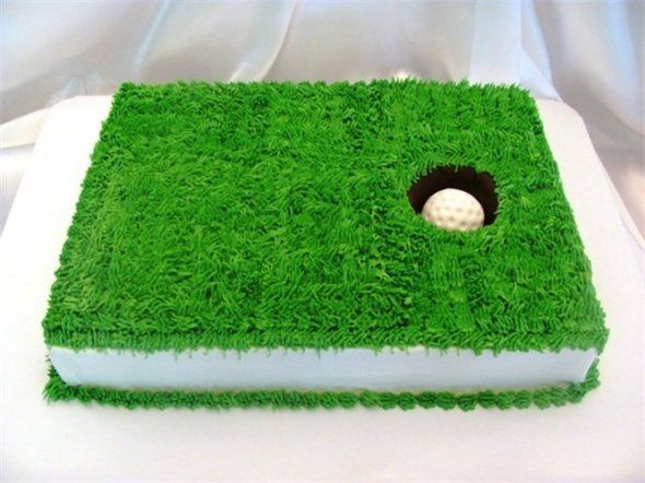 golf hole cake: Dad, Golfcake, Golf Hole, Golf Cakes, Cake Ideas, Golf Party, Hole Cake, Birthday Cake