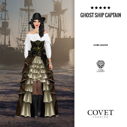 Covet Fashion v2 - Daily: Ghost Ship Captain (Pirates of the Caribbean) ✨5.62 (4.95 from votes)