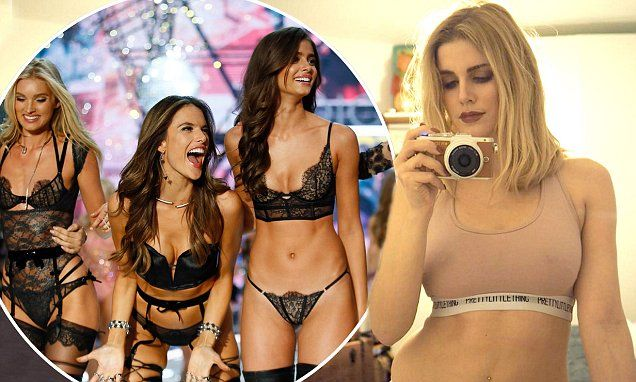 Ashley James reacts to Victoria's Secret with defiant lingerie snap