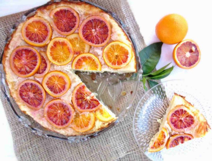 Greek Upside Down Blood Orange Pie. Made with phyllo pastry, Greek yogurt and soaked in Syrup. Yum!