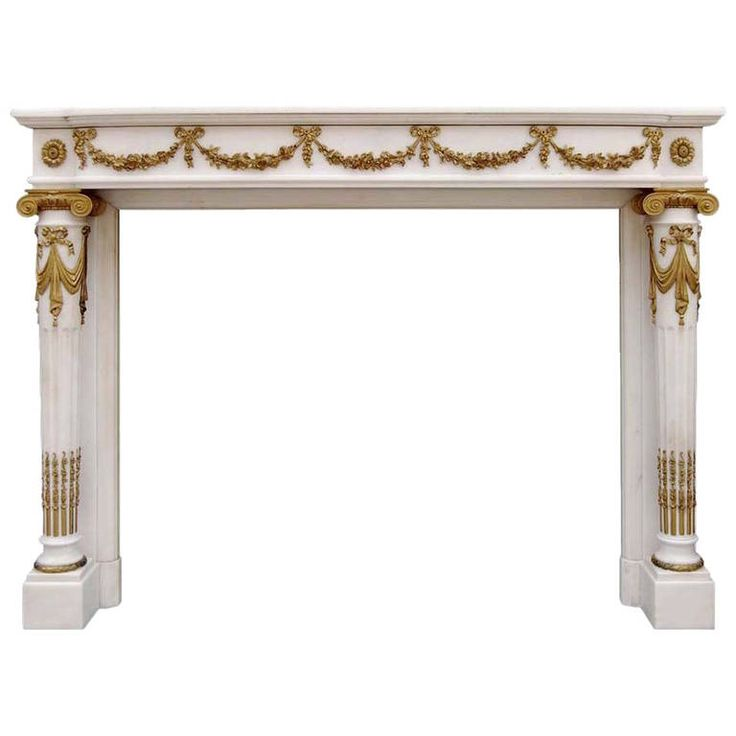 French Louis the 16th style marble and bronze fireplace - 19th century | 1stdibs.com