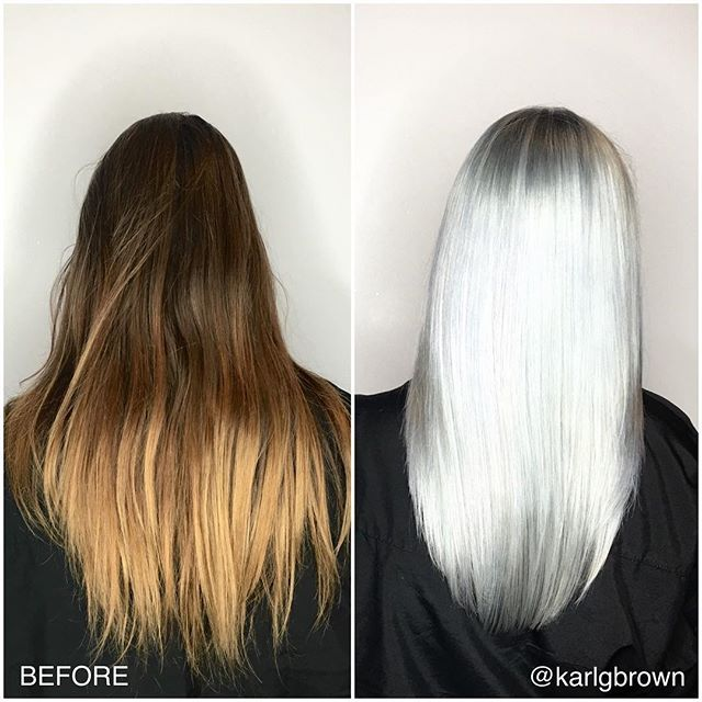 Before Amp After ️ Rooty Silver Using Blondor With Olaplex