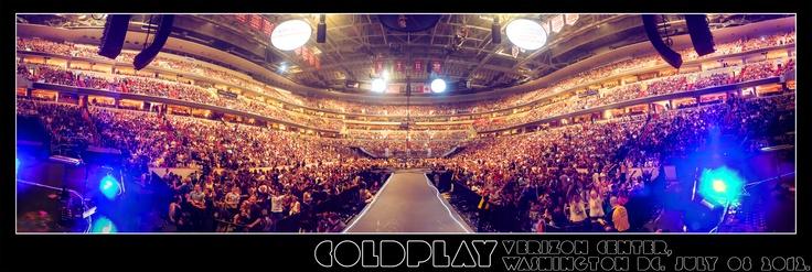 Coldplay: News - Panoramas: Verizon Center, Washington DC