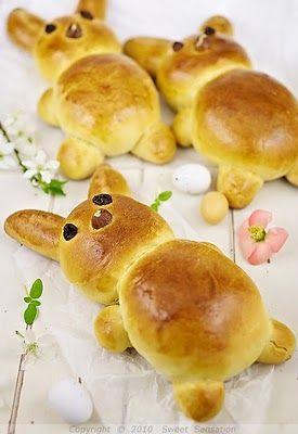 Easter bread....cute!