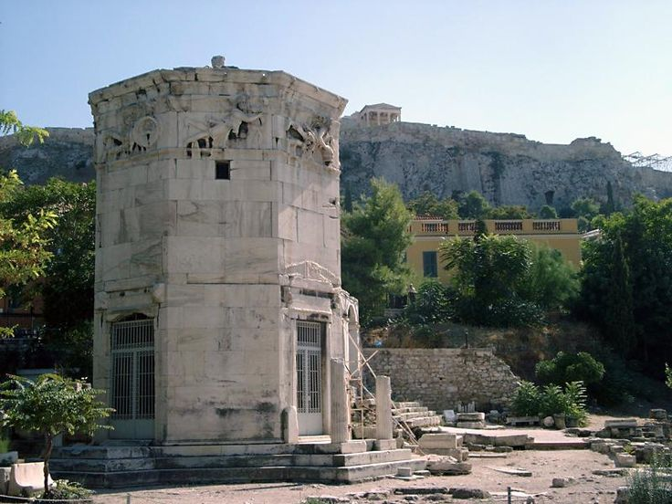 the water clock in the tower of the winds essay The tower of the winds, still standing in the roman forum (agora) of athens, is a   tower there was a water clock (hydraulic clock) to show the time when there.