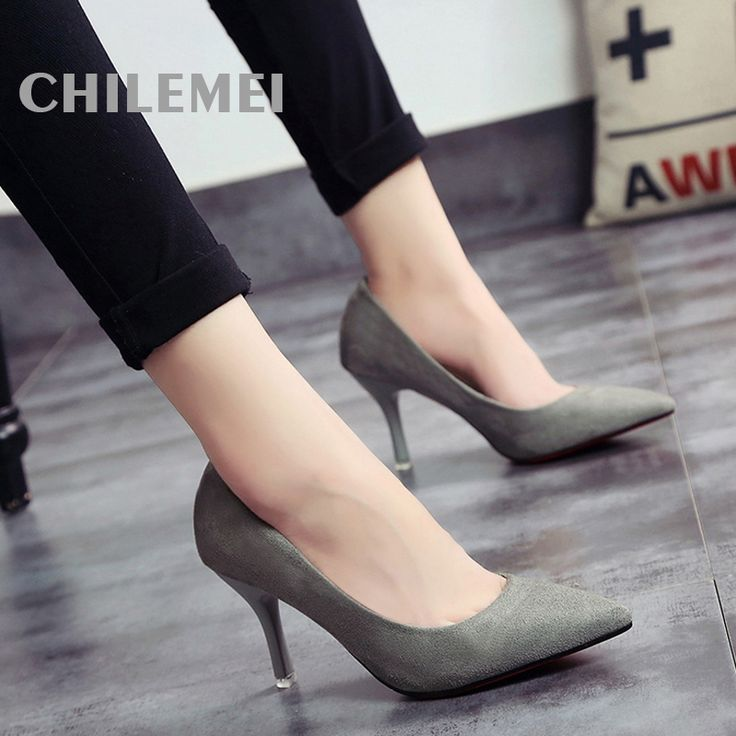 women high heels sandalia ladies zapato 16 Spring Sexy High Heel Shoes Women Pumps Plus Thin Spike Heel Shallow Opening -in Women's Pumps from Shoes on Aliexpress.com | Alibaba Group