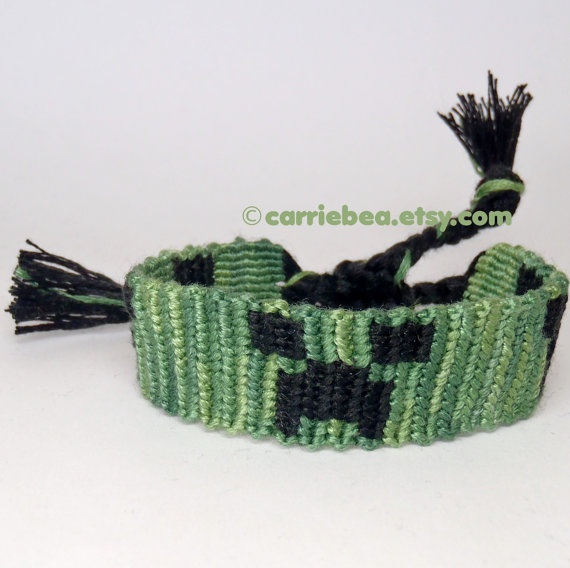 Minecraft friendship bracelet  Find more cool teen program ideas at www.the4yablog.com