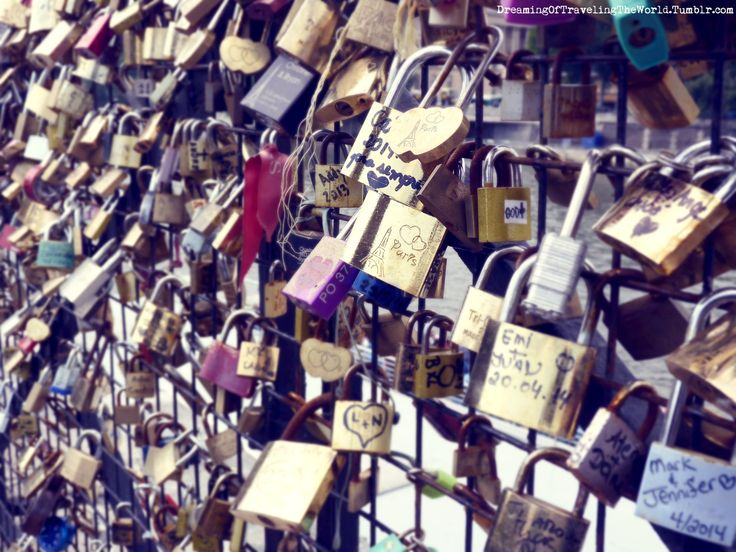Love locks Paris. France