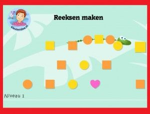 Seriëren met kleuters op digibord of computer, kleuteridee / Series game for preschoolers in IWB or computer
