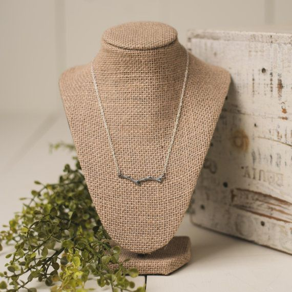 This branch necklace is so cute and is the perfect accessory for a casual outfit!  All parts solid .925 sterling silver.  Necklace shown is 18 in length.